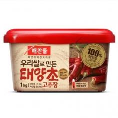 해찬들 우리쌀로 만든 태양초 골드 고추장 1kg