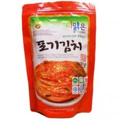 한국산 천연재료 화원농협 이맑은 포기김치 500g