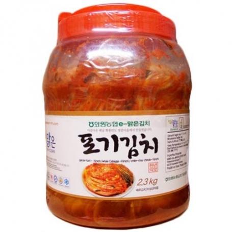 한국산 천연재료 화원농협 이맑은 포기김치 2.3kg