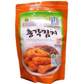 한국산 천연재료 화원농협 이맑은 총각김치 500g
