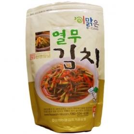 한국산 천연재료 화원농협 이맑은 열무김치 500g