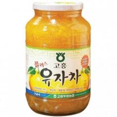유자골 고흥 두원농협 벌꿀 유자차 1kg (100% 한국산원료)
